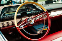 1960 Desoto Fireflite Coupe Steering Wheel And Dash by Jon Woodhams