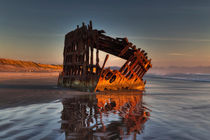 Shipwreck at Sunset by Mark Kiver
