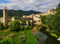 Besalu, a medieval town in Catalonia, Spain by Louise Heusinkveld