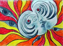 Relection colour pencils drawing von Lila  Benharush