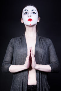 woman in  theatrical mime make-up by Igor Korionov