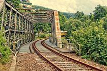 Stillgelegte Bahnstrecke Grünthal im Erzgebirge von Helmut Schneller