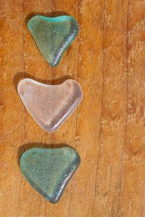 Seaglass hearts von Alex Bramwell