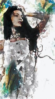 Wonder Abstract Portrait by Galen Valle