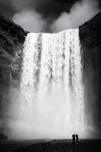 Skogafoss Wasserfall Island Iceland von Matthias Hauser