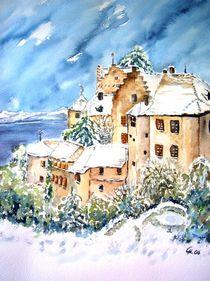 Meersburg im Schnee by Christine  Hamm