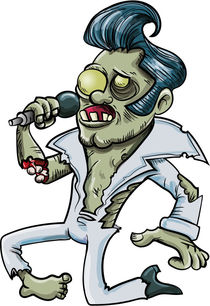 Cartoon zombie Elvis  by Anton  Brand