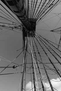 Rigging on a tall ship seen from below von Intensivelight Panorama-Edition