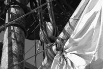 Detail of the rigging - monochrome von Intensivelight Panorama-Edition