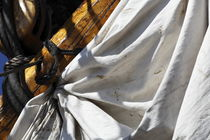 Reefed sail on a tall ship von Intensivelight Panorama-Edition
