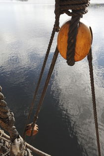 Rigging on a tall ship and calm sea by Intensivelight Panorama-Edition