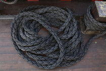Coiled ropes on a ship von Intensivelight Panorama-Edition