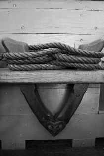 Belaying pins on a tall ship with ropes von Intensivelight Panorama-Edition