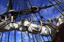 Reefed sails on a tall ship by Intensivelight Panorama-Edition