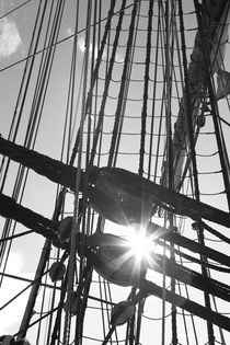 Rigging on a tall ship von Intensivelight Panorama-Edition