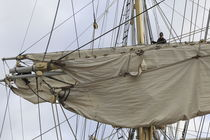 Mariner in the rigging of a brig von Intensivelight Panorama-Edition