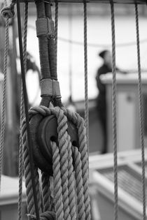 Rigging on a brig - monochrome von Intensivelight Panorama-Edition