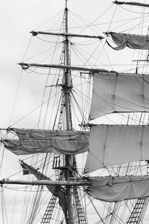 Sails of a brig - monochrome von Intensivelight Panorama-Edition