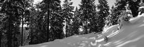 Car tracks in deep snow - monochrome von Intensivelight Panorama-Edition