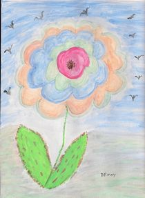 Flower in sky by Denise Davis