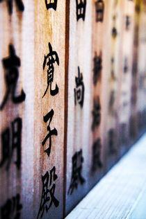 Holztäfelchen mit Kanji 2 by framboise