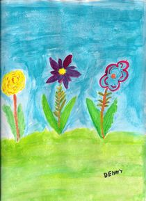 Three Flowers by Denise Davis