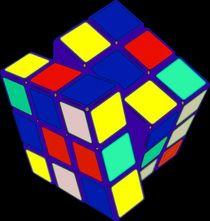 Rubik's Cube Pop Art von Florian Rodarte