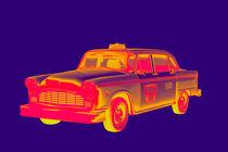 Checkered Taxi Cab Pop Art von Keith Webber Jr