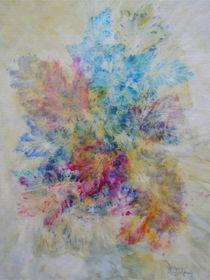 Blattstrauß, Stillleben, Malerei, bouquet of leaves, still life, painting  von Dagmar Laimgruber