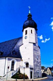 Kirche in Olbernhau (Erzgebirge) by Helmut Schneller