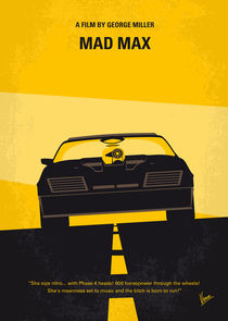 No051 My Mad Max 1 minimal movie poster von chungkong