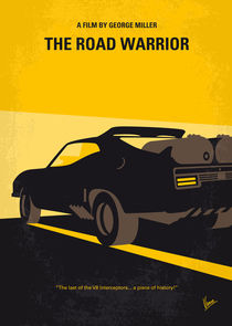 No051 My Mad Max 2 Road Warrior minimal movie poster by chungkong