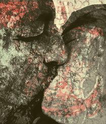 Graffiti Kiss Gray von florin