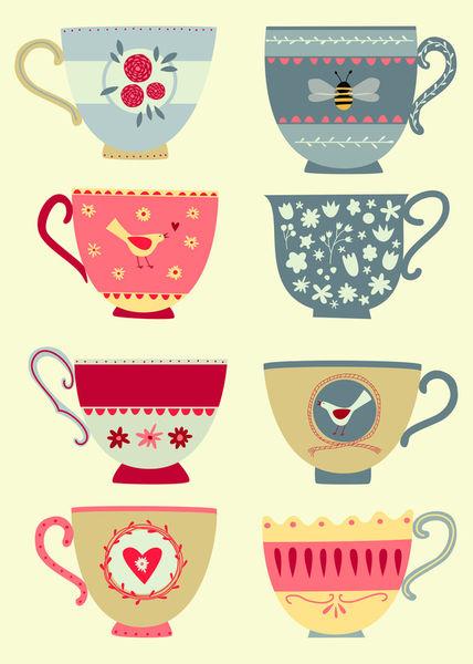 Eight-tea-cups-print