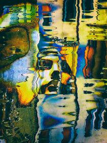 Woman in the water surface von Gabi Hampe