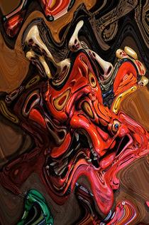 Maske in Abstract Art by Helmut Schneller
