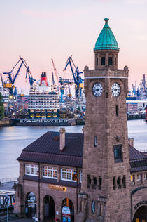 Hamburg Queen Eilzabeth an den Landungsbrücken VI von elbvue