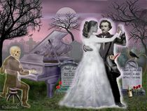 Poe and Annabel Lee Eternally by holbrookart