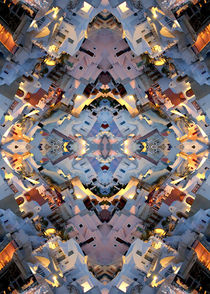 Santorini island abstract pattern by Mihalis Athanasopoulos