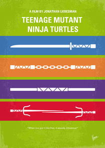 No346 My Teenage Mutant Ninja Turtles minimal movie poster von chungkong
