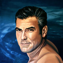 George Clooney painting 2 by Paul Meijering