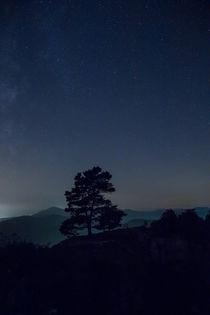 Sternenhimmel über der Burgruine Neuscharfeneck von Walter Layher