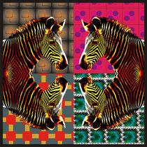 Colorful Zebras von Nandan Nagwekar