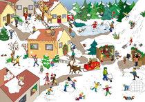 Wimmelbild Weihnachten von Verena Münstermann