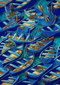 Pattern boats by Anna Brodovska