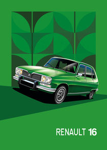 Renault 16 Poster Illustration by Russell  Wallis