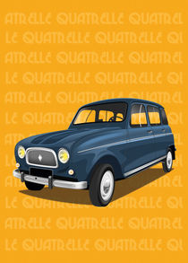 Renault 4L Poster Illustration by Russell  Wallis