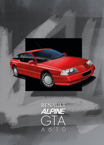 Renault Alpine GTA Poster Illustration by Russell  Wallis