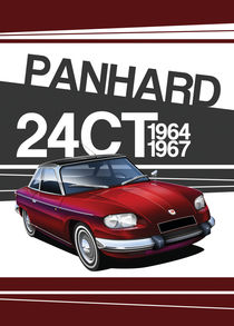 Panhard 24CT Poster Illustration by Russell  Wallis