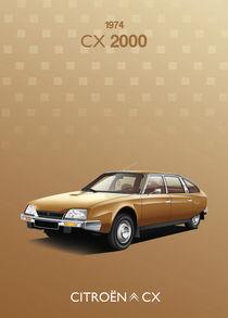 Citroen CX Poster Illustration by Russell  Wallis